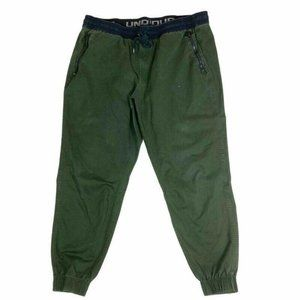 Under Armour Mens Jogger Pants Green Fitted 2XL